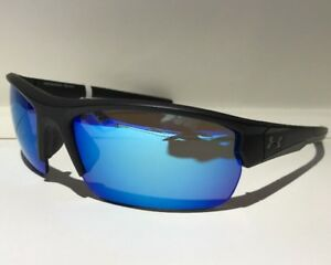 NEW Under Armour Propel Satin Black  Gray Blue 8600106 010161 Sunglasses