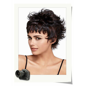 Women Chic Short Cut Fluffy Curly Hairstyle Multi Color Synthetic Hair Wigs