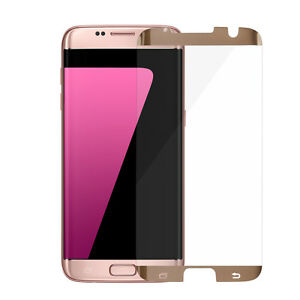 100PCS Gold Samsung Galaxy S7 edge Tempered Glass Screen Protector Anti-Scratch