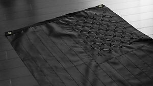 All Black American Flag 3x5 ft Embroidered Nylon US USA Blackout Tactical