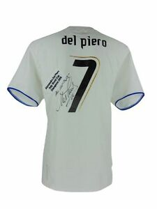 ALESSANDRO DEL PIERO SIGNED ITALY WORLD CUP SHIRT 2006+PHOTO PROOF*SEE HIM SIGN*