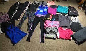 Lot Women's 25 Piece Exercise Workout Clothes Nike Adidas Under Armour REEBOK M