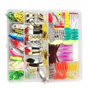 150 Pcs Fishing Lures Set TOCGAMT Including Frog Lures Soft Plastic Lures Crank