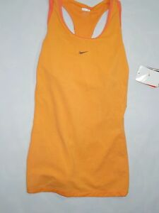 Nike womens Orange Fit Dry racerback Yoga tank top Shirt MEDIUM