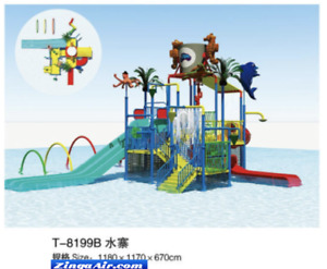 45x40xx30 Commercial Splash Pad Water Park Slide Pool Inflatable Game Playground
