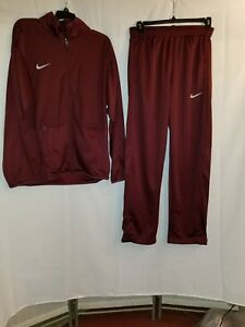 nike dry fit basketball warm up+Jacket + Pants Burgundy