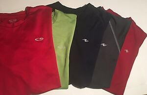 LOT of 5 - Champion Mens Duo Dry T Shirt  Dri Fit - Short sleeve Athletic Gear