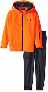 Under Armour Toddler Boys Active Hoodie and Pant Set Orange 2T