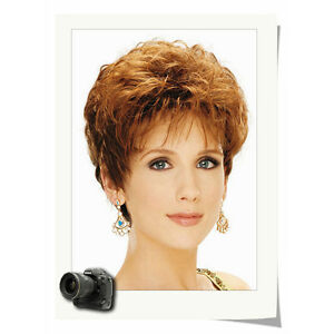 Fashion Women Chic Cut Layered Curly Hairstyle Brown Color Synthetic Hair Wig