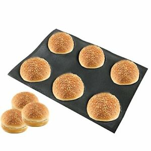 Bluedrop Silicone Bun Bread Form Round Shape Bread Tray Perforated Bakery Molds