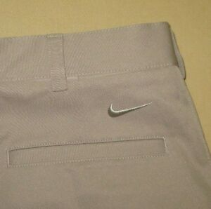 NEW Men's NIKE FIT DRY Casual Flat Front  Golf SHORTS Sz 32 - Beige NWT