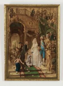 Carl Herpfer late 19th c. chromolithograph stamped 1800s $354.89