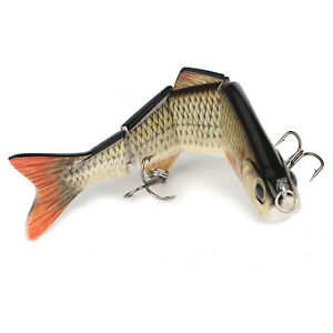 Multi-Jointed Bass Pike Fishing Lure Crank Bait Swimbait Life-like Shad Minnow