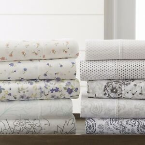 The Home Collection 4 Piece Pattern Bed Sheet Sets 6 Designs