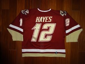 Game Worn Under Armour Kevin Hayes Boston College 2010-2011 Jersey Winnipeg Jets