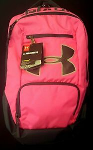 Under Armour UA Relentless Storm 1 Big Logo Pink Gray Backpack 1284002-652 – NWT