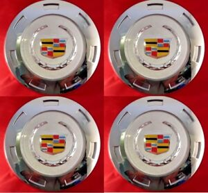 4pcs. 2007 2014 CADILLAC ESCALADE COLORED CREST 22 WHEEL CENTER CAP 9596649