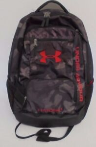 UNDER ARMOUR Heatgear Storm 1 Unisex Backpack Black Red Gray - used