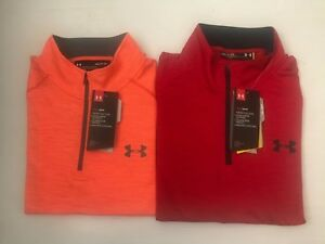 NEW UNDER ARMOUR MEN'S LS LOOSE HEAT GEAR PULL OVERTOP TWISTED  SZ  S_2XL NWT