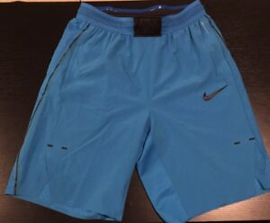 "(831359-435) Nike Aeroswift Men's 9"" Flex Repel Shorts Light Blue"