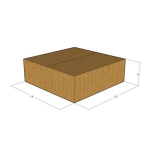 5 Corrugated Boxes 18 x 18 x 6  32 ECT - New for Packing or Shipping Needs