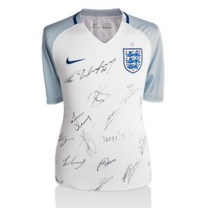 Official England 201617 Squad Signed Home Shirt  Autograph Jersey