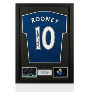 Framed Wayne Rooney Signed Manchester United Away Shirt 201617 - Fan Style Numb