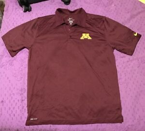 Mens Nike College Team Dri-Fit Golf Shirt: NEW!