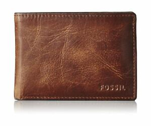 Fossil Men's Derrick Front Pocket Bifold Wallet Brown One Size