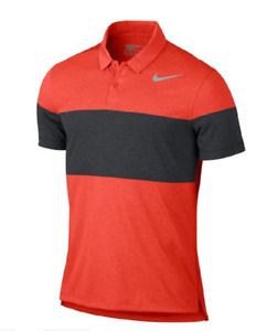 Nike NEW Modern Fit Mens TR Dry 41 Printed 2 Polo Golf Shirt 839493 Large L $80