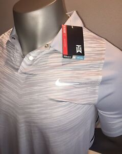 $95 NEW Tiger Woods TW Nike Fit Dry Golf Polo Collared Shirt Medium