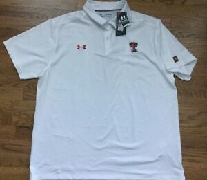 Texas Tech Red Raiders Under Armour NCAA Men's Performance Polo Shirt XXL Loose