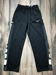 NIKE Boys XL ELITE Stripe Dri Fit Pants Black White Gray Basketball 16 18 VGC