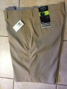 Callaway Golf Shorts W34 Khaki New With Tags. Retails For 60.00