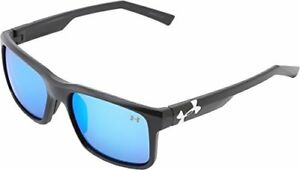 Under Armour Align Satin Black Frame with Black Rubber and Gray-Blue Multifle...