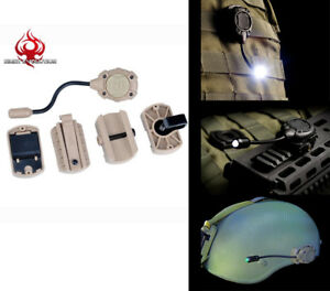 Tactical Tec MPLS Helmet Lamp Task Light MOLLE LED Airsoft Light Palitball Lamp