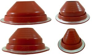 Dektite PIPE FLASHING: Red High Temp Silicone Pipe Boot Flashing Sizes #1 #9
