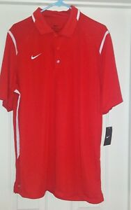 NIKE Men's TEAM GAME DAY DRI FIT Red POLO SHIRT TOP  706710 Size Large