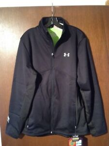 Under Armour Coldgear Infrared Jacket Full Zip Large Black Fitted 1240363 NWT