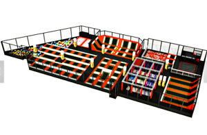 12500 sqft Commercial Trampoline Park Dodgeball Climb Gym Inflatable We Finance