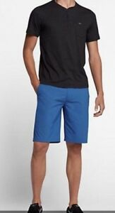 NWT Nike Dri-Fit Hurley Turquoise Dry Out Chino Golf Shorts Size 36 Length 21.5""