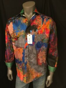 Men`s Robert Graham Limited Edition Zucker Sport Shirt SOLD OUT IN STORES!
