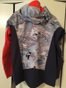 under armour ridge reaper hydro Camo Waterproof Fishing Rain Jacket Coat Mens S