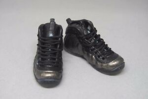 """16 Scale Sneakers Nike AIR MAX Shoes for 12"""" figure with black and metallic"""