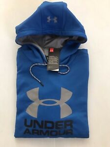 NEW UNDER ARMOUR  MEN' LOOSE  ACTIVE HOODIE  BIG LOGO MAKES ALL ATHLETES BETTER