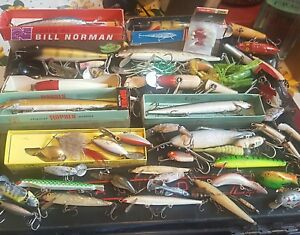 Vintage Plano Phantom Tackle Box Loaded with Lures Tackle OVER 50 LURES !