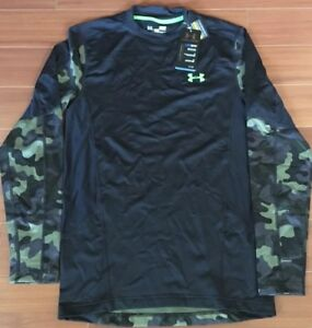 UNDER ARMOUR FITTED UA PERFORMANCE COLDGEAR CAMOUFLAGE LONG SLEEVE WARM SHIRT $59.99