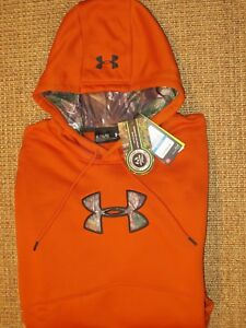 UNDER ARMOUR MEN'S XL  X LARGE  HOODIE REAL TREE  STORM COLD GEAR BIG LOGO