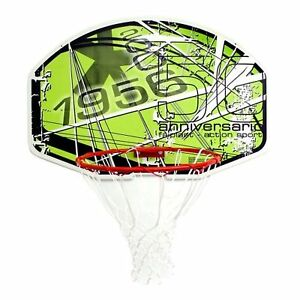 BRAND NEW SURE SHOT ACTION GREEN RING & BACKBOARD BASKETBALL SET