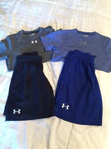 Boys Under Armour Shorts And Shirts Lot Size Youth Medium